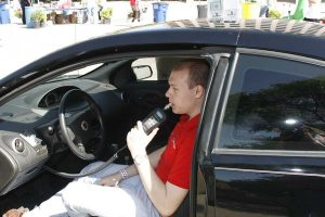 Breath Alcohol Ignition Interlock Device installed in car