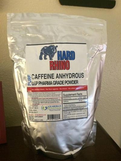 Pure powdered caffeine
